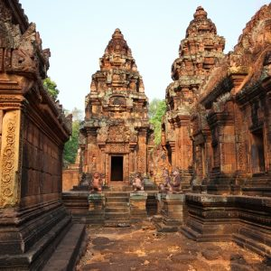 A detail of the Banteay Srei temple near Angkor Wat in Cambodia_shutterstock_134892047-01